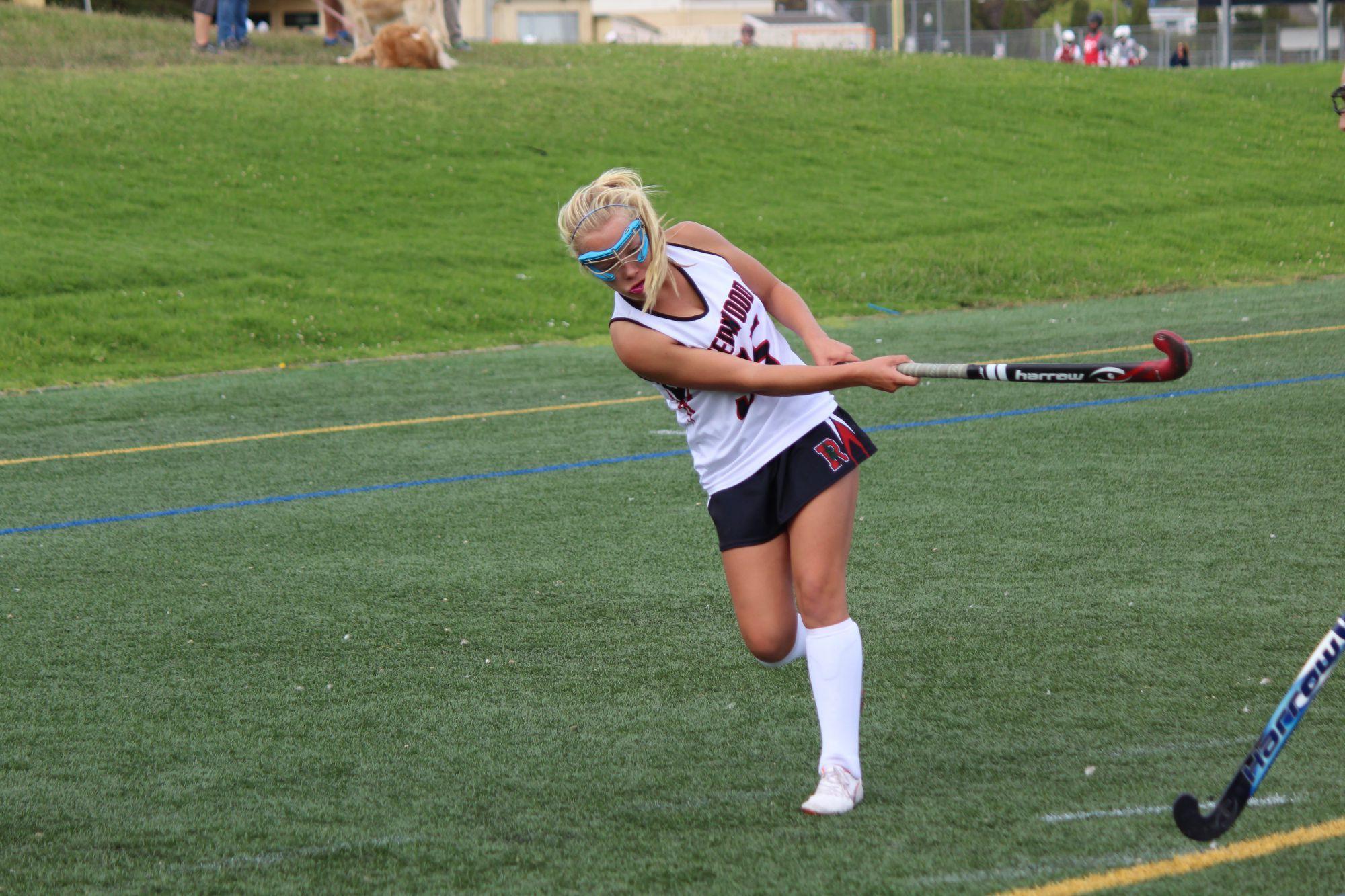 Girls' varsity field hockey soars past Drake in 9-0 shutout