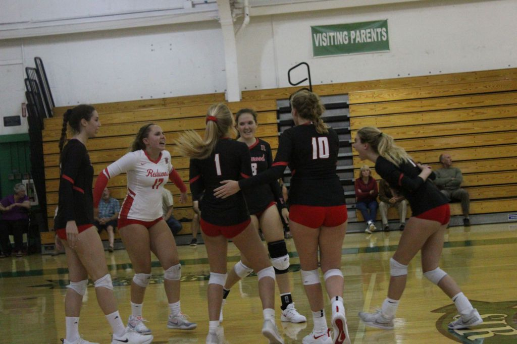 Redwood+celebrates+after+a+point