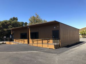 The Redwood portables, installed last year to accommodate for the influx of students.