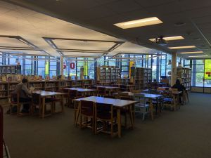 The library also provides students with a quiet environment to work before and after school.