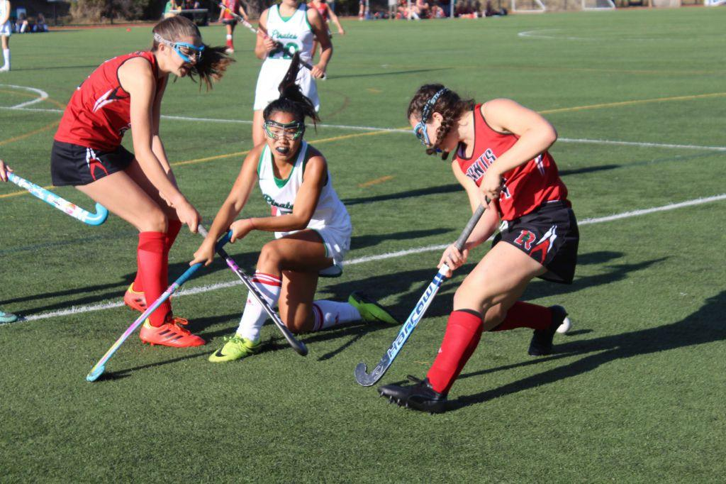 Girls' varsity field hockey wipes out the Drake Pirates