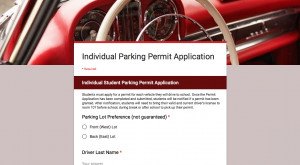Administration opens application for new parking plan