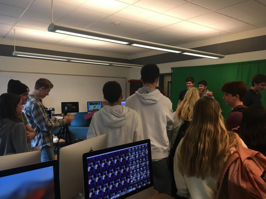Seniors and their siblings gather in room 177 to take