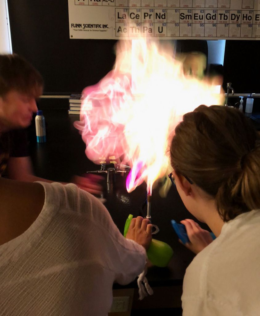 The chemistry club meets twice a week to perform independent experiments.