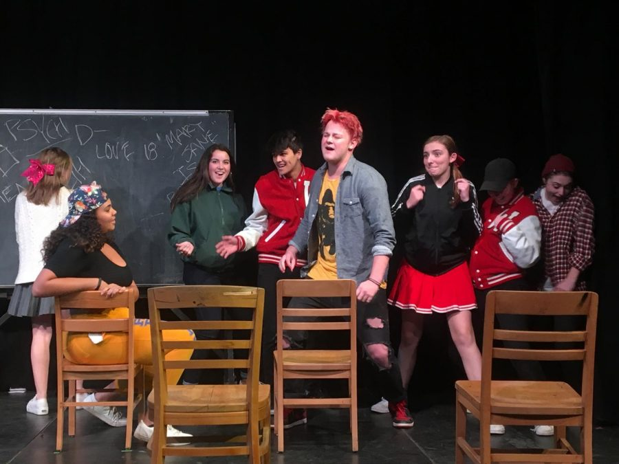 A musical portion of the Advanced Drama One Act on high school and drug use.