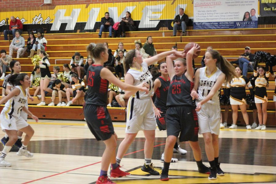 Girls varsity basketball shows strengths in a decisive win over Novato