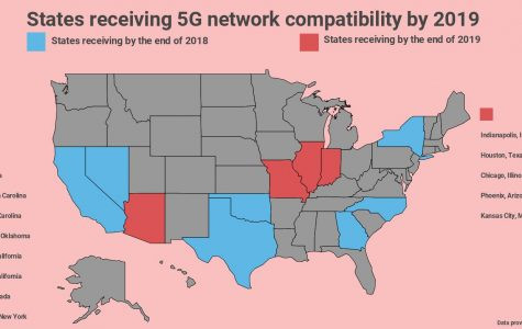 A map showing every location receiving the 5G network in the next 2 years.