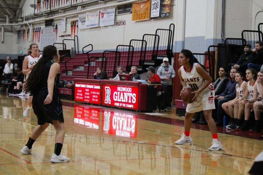 Girls' varsity basketball advances their undefeated league record