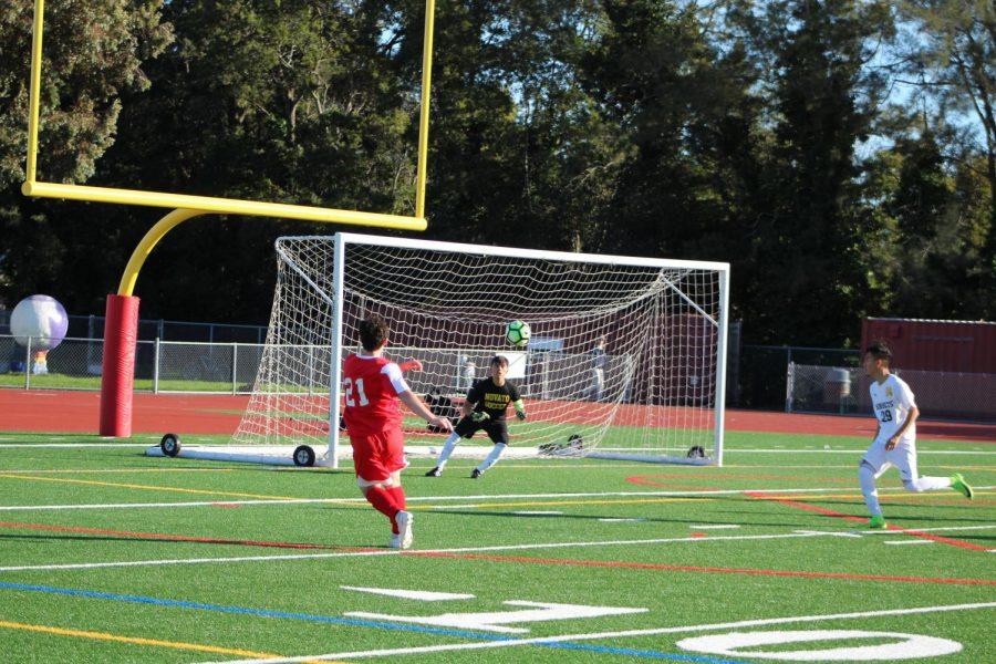 Despite loss against Novato, Redwood varsity boys soccer remains optimistic
