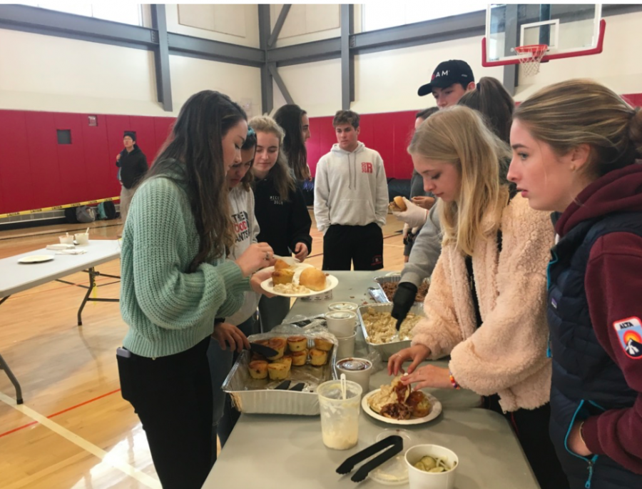 For the February food day on Friday, Leadership students served Pig in a Pickle BBQ plates.
