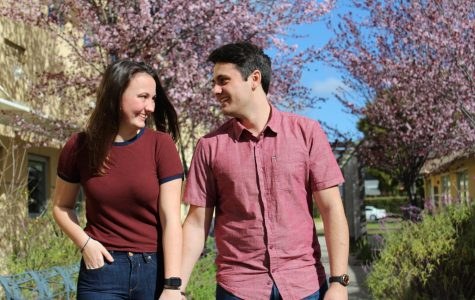 Gazing into each others eyes, seniors Jayson Fabre and Grace Scott have shared many memories together over the past two years as a couple.