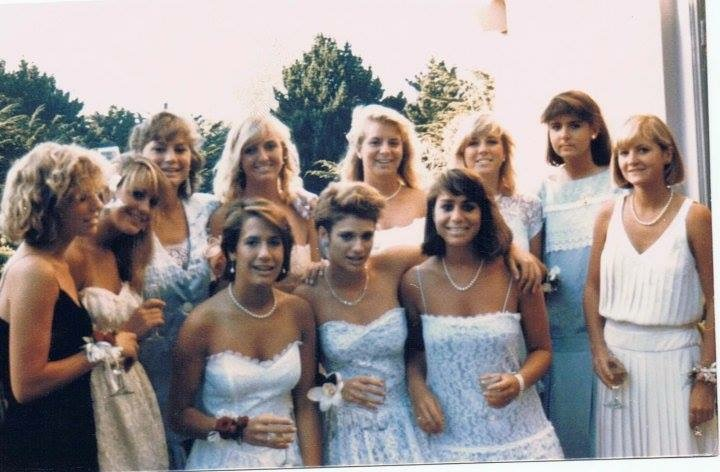 Debbie+Fraschetti+and+friends+before+their+Senior+ball+in+1985.+