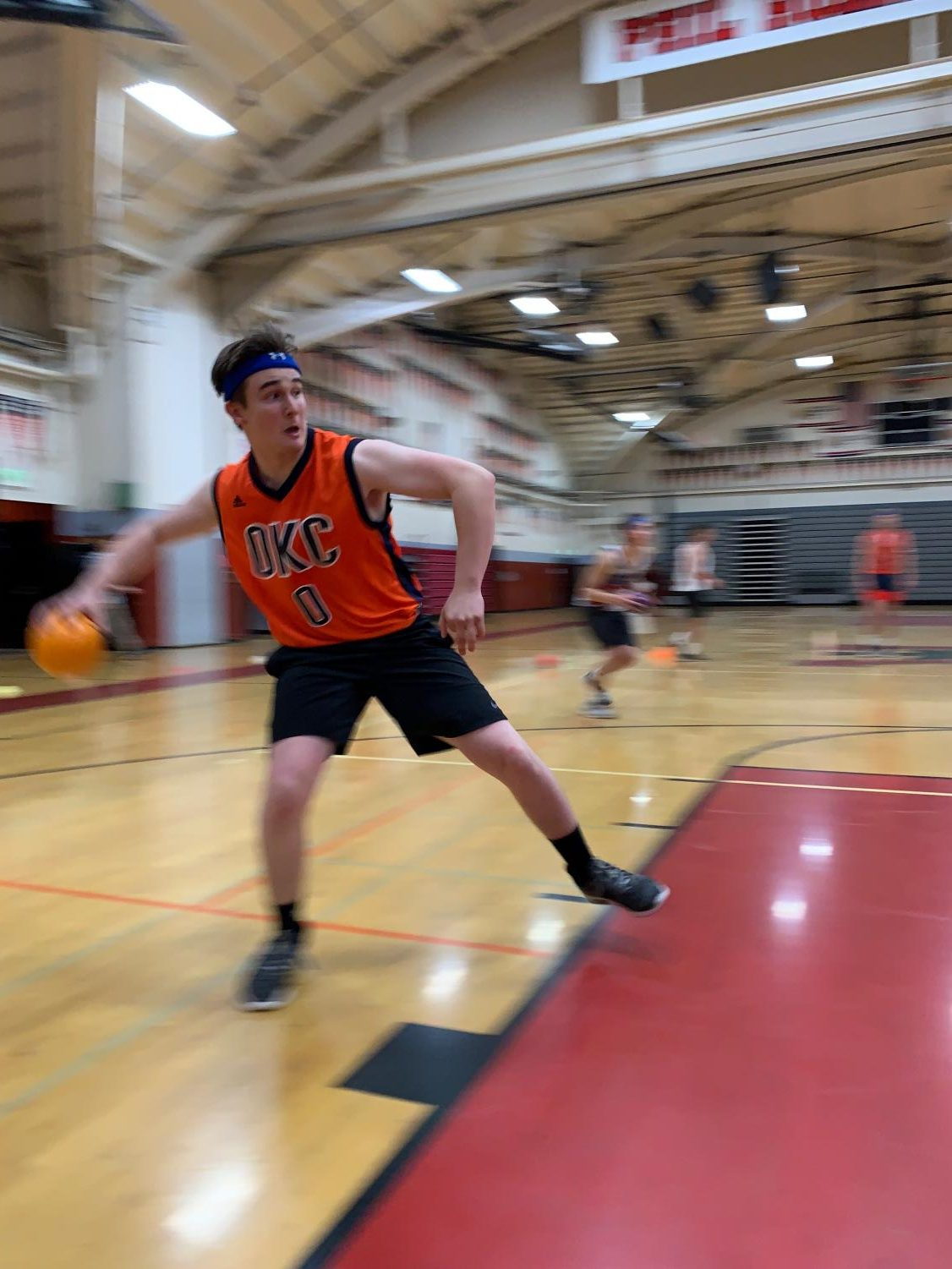 Students competed in the Redwood gym on Friday night as a part of Redwood Night Live's annual dodgeball tournament.