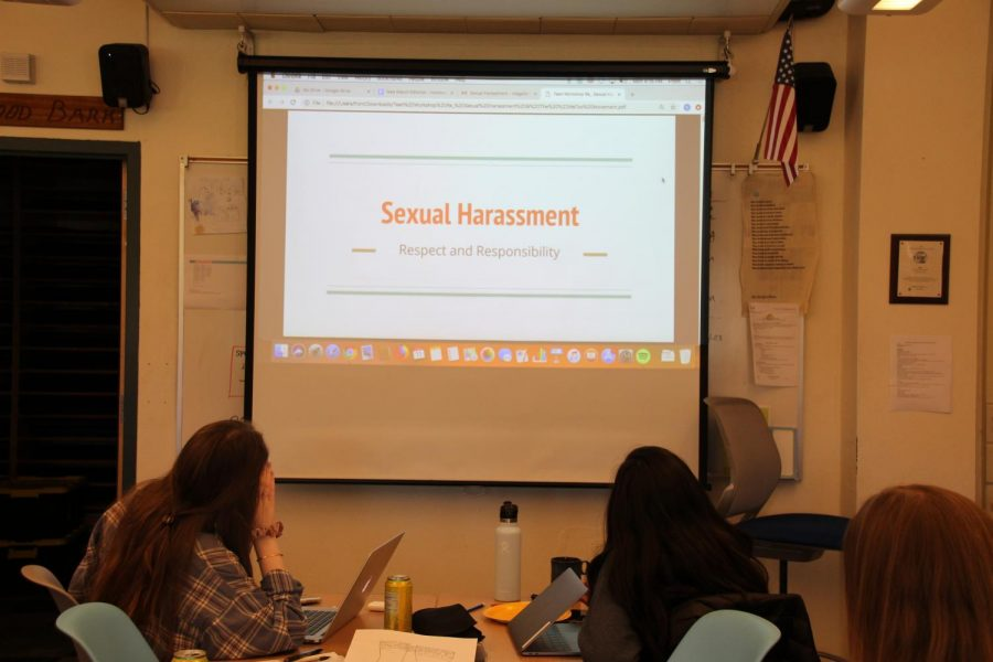 Provided by the Wellness Center, the sexual harassment workshop was conducted by Redwood English teachers for the 2018-2019 school year.