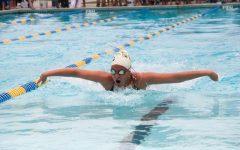 Gwen Kallmeyer makes a splash in her first meet of the season