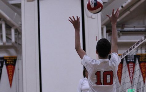 Redwood boys' varsity volleyball sweep in a three set victory over the Drake Pirates