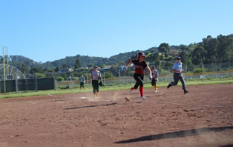 Girls' varsity softball goes home with a 5-1 loss against San Marin Mustangs