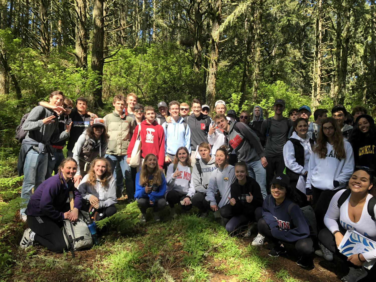 Ecology students spent the day in Point Reyes for a field trip.