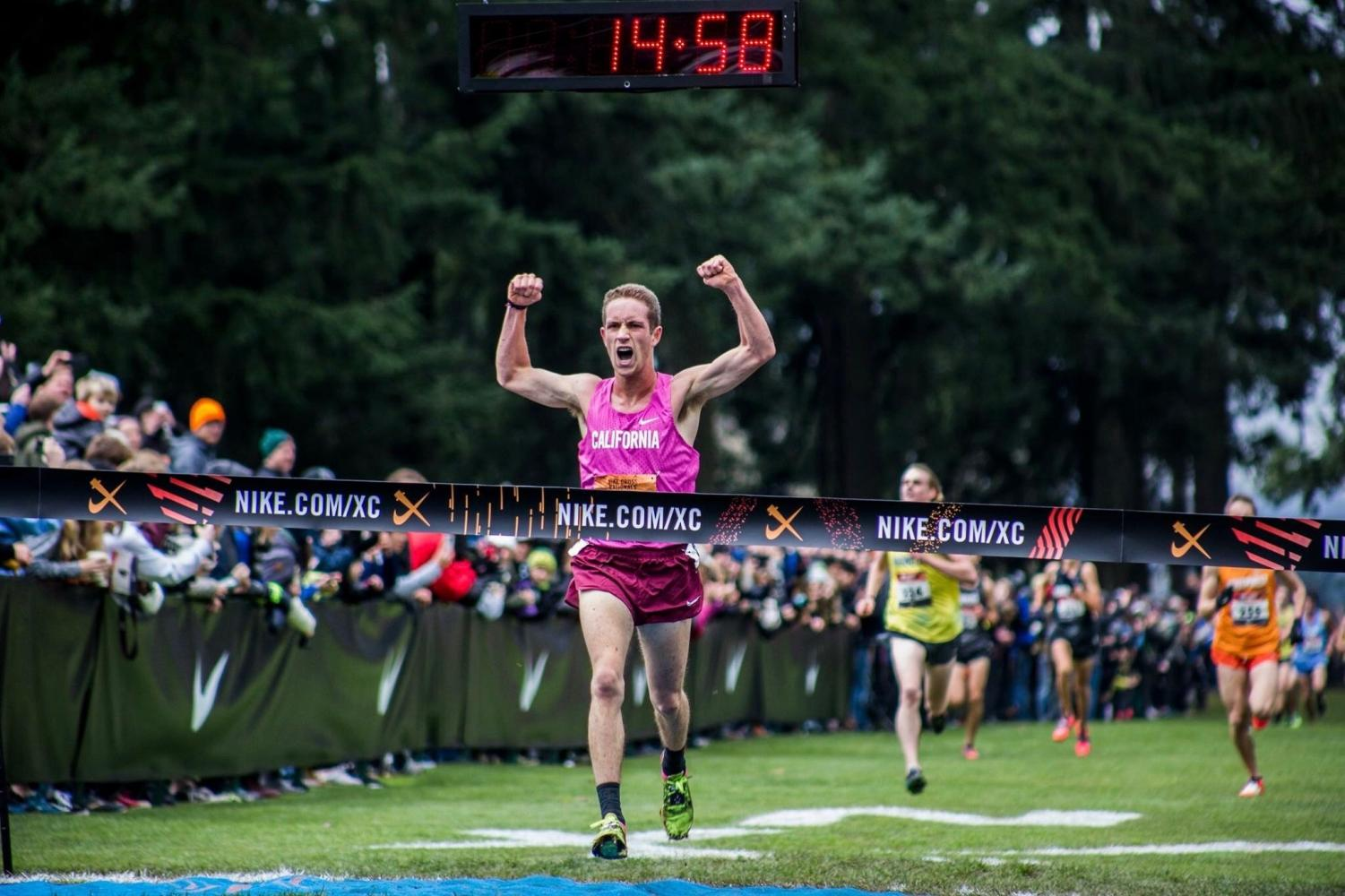 Rushing towards the finish line, Anderson wins Nike Cross Nationals.