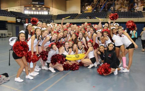 Redwood cheerleaders begin the season at UC Davis camp