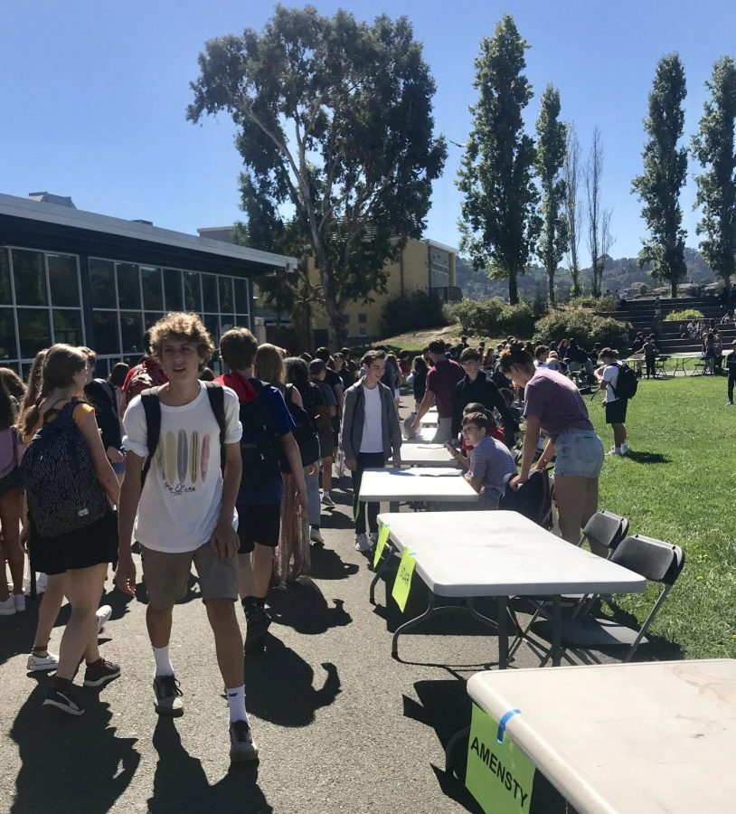 Perusing this year's options, students attended club day on Sept. 25.