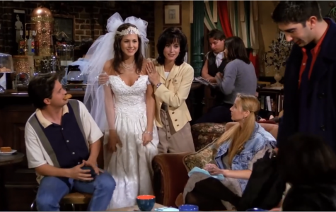 Monica introduces her friend from high school, Rachel, to the gang.