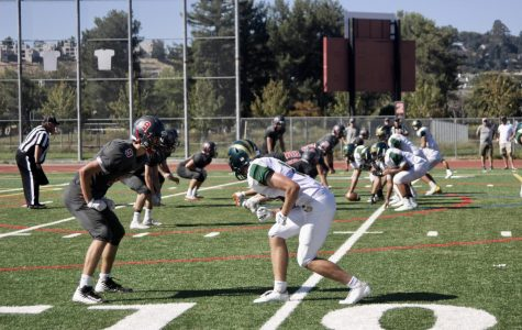 Redwood varsity football slams Maria Carrillo in first home game of the season
