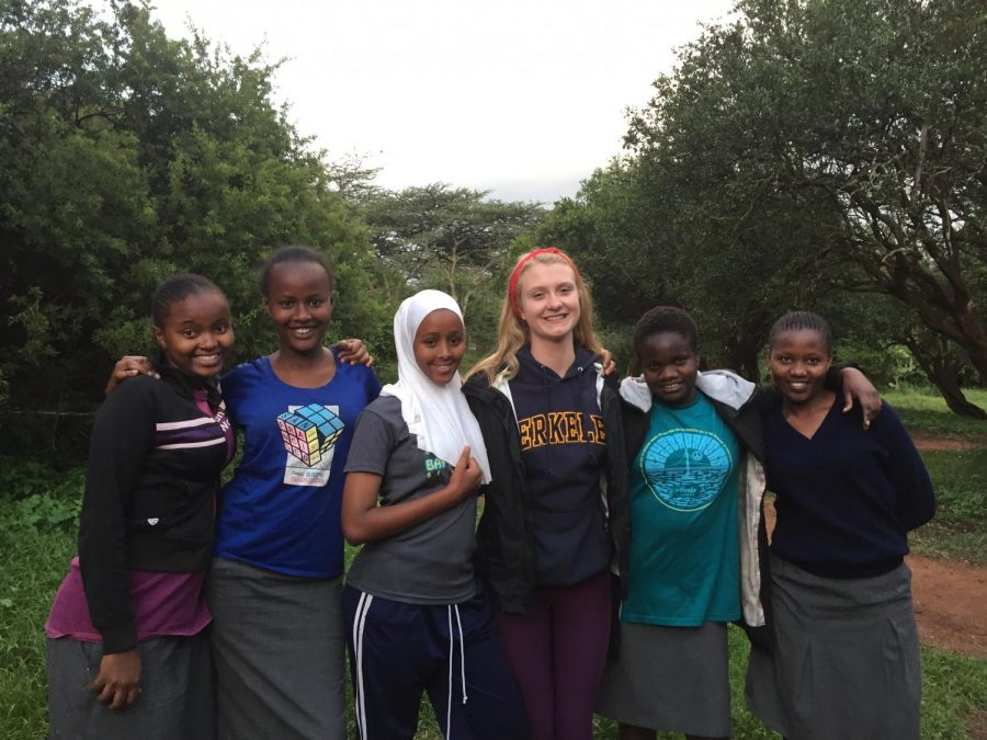 Co-president+Cleo+Norris+with+students+at+Daraja+Academy+in+Kenya.+Photo+courtesy+of+Cleo+Norris.
