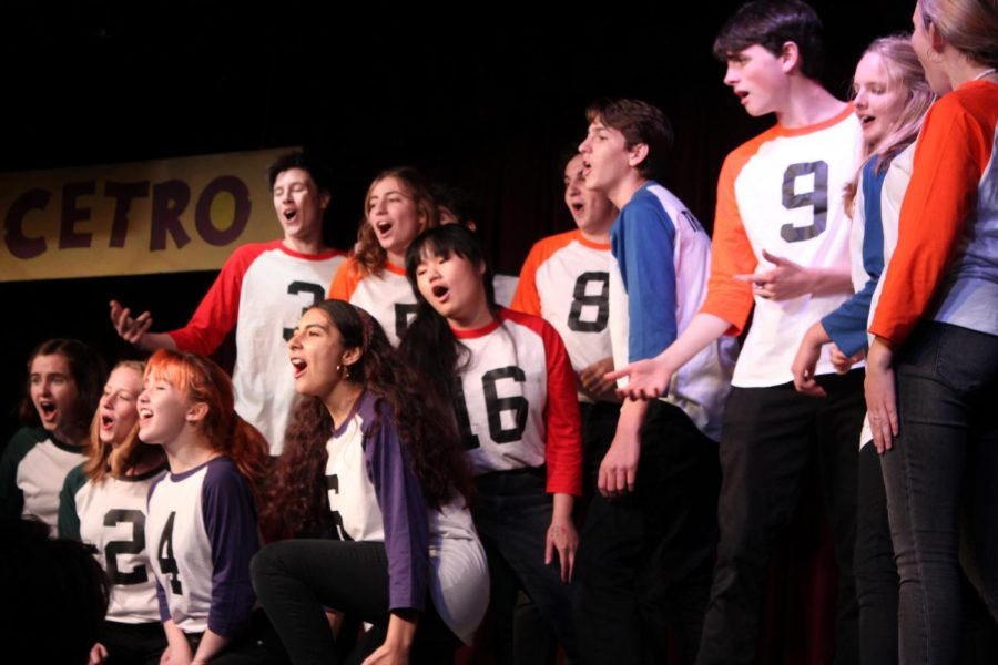 Belting the opening anthem, the cast of Micetro promises the audience a laughter-filled show.