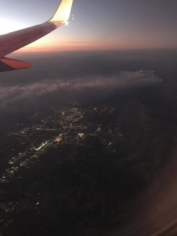 Smoke blows over the Bay Area as a result of the Kincaid fires.
