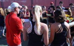 Girls' varsity tennis sweeps Marin Catholic 7-0 in their last regular season game
