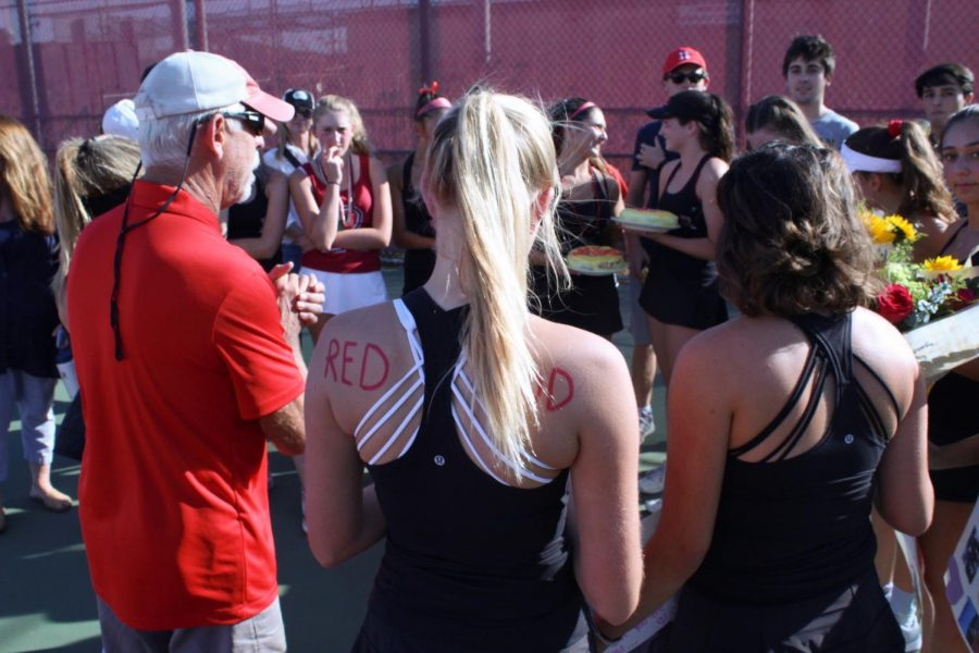 Girls' varsity tennis sweeps Marin Catholic 7-0 in their last regular season game