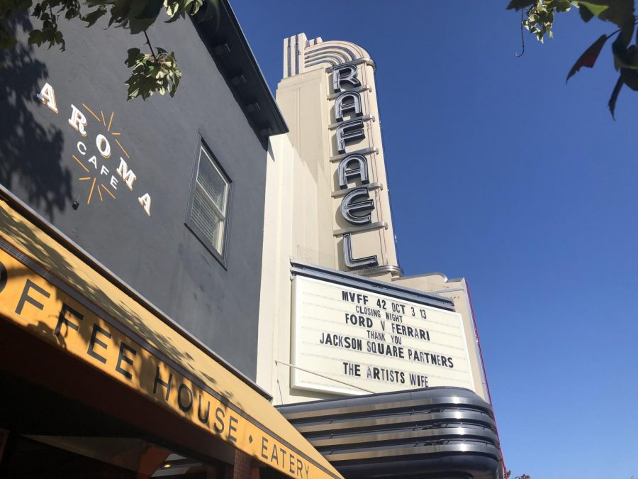 A view outside the San Rafael Theater on the festival's closing day.