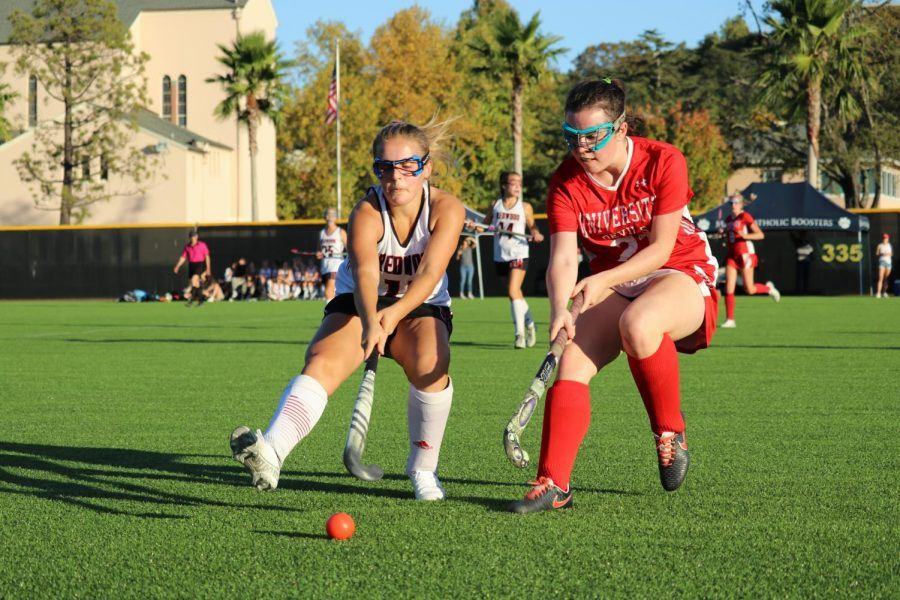 Girls' varsity field hockey takes the MCAL championship in overtime