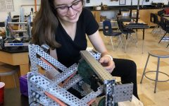 Knowing the code for sucess; senior Ella Crabree thrives in her tech element