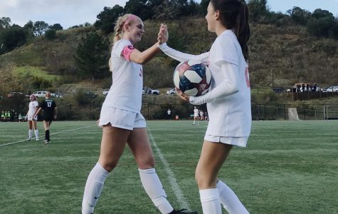 Girls' varsity soccer scores first shutout of the season in victory against Drake