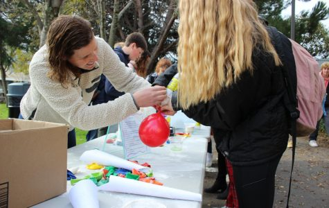 During lunch on Tuesday Dec. 10, wellness center hosted a stress ball making activity as part of their