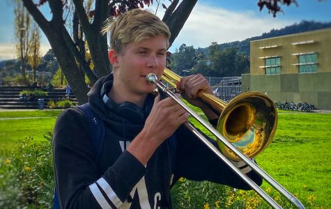 An aspiring musician, Kuisma enjoys playing his trombone out of school.