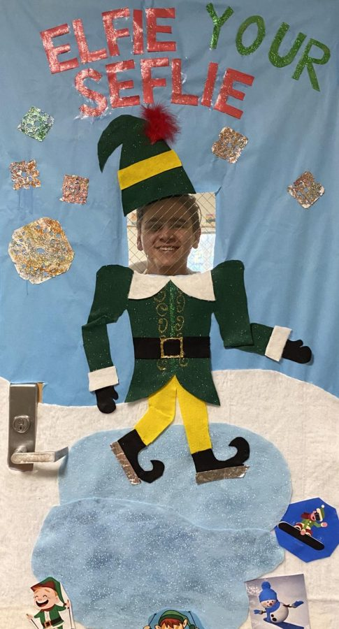 This Holiday season SMART classes compete to decorate their doors. Room 185 created an