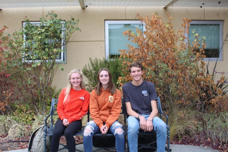 From left to right: Rachel Mueller, Caroline Reidy, Lucas Tress.