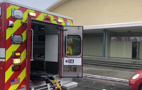A firetruck and an ambulance were called to Redwood on Friday, Dec. 20 to assist a student with a minor concussion.