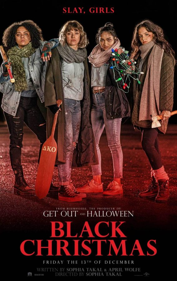 """Black Christmas"" movie poster shows off its four female leads."