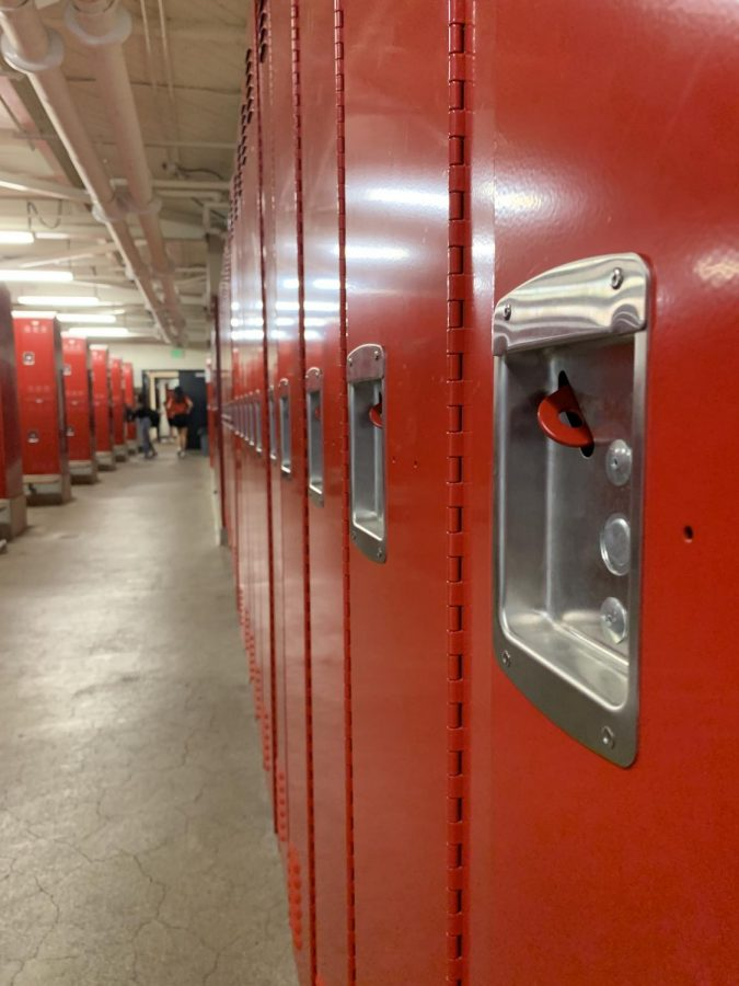 Lacking space and security, some students are forced to hide their personal belongings outside of their locker.