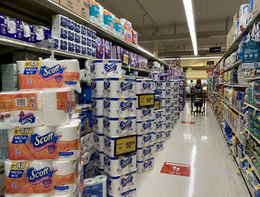 After the public cleared toilet paper from the shelves at the beginning of California's shelter-in-place, Safeway has stocked up once again.