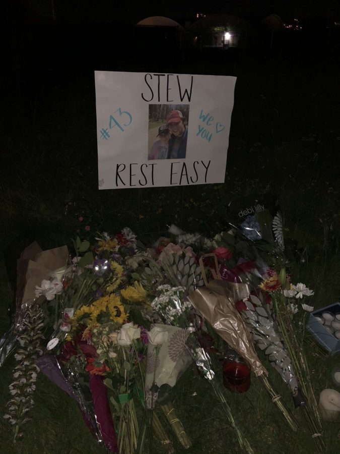 Students commemorate the tragic loss of senior Stewart Fife