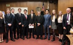 Last year's Mock Trial participants attending a competition in the Marin County Superior Court.
