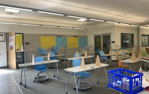 On Monday Oct. 5th, Hall Middle School students returned to in-person learning complete with plexiglass barriers and socially distanced desks.