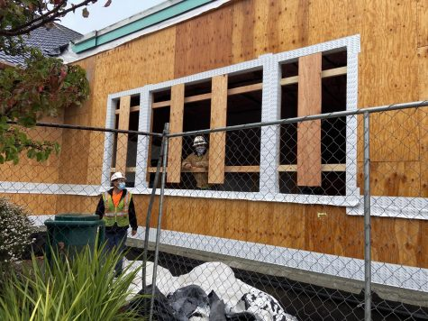 Construction continues at the Belvedere Tiburon Library.