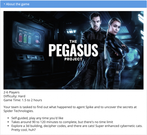 Taking just under two hours to finish, The Pegasus Project was challenging but enjoyable (Courtesy of EscapeSF)
