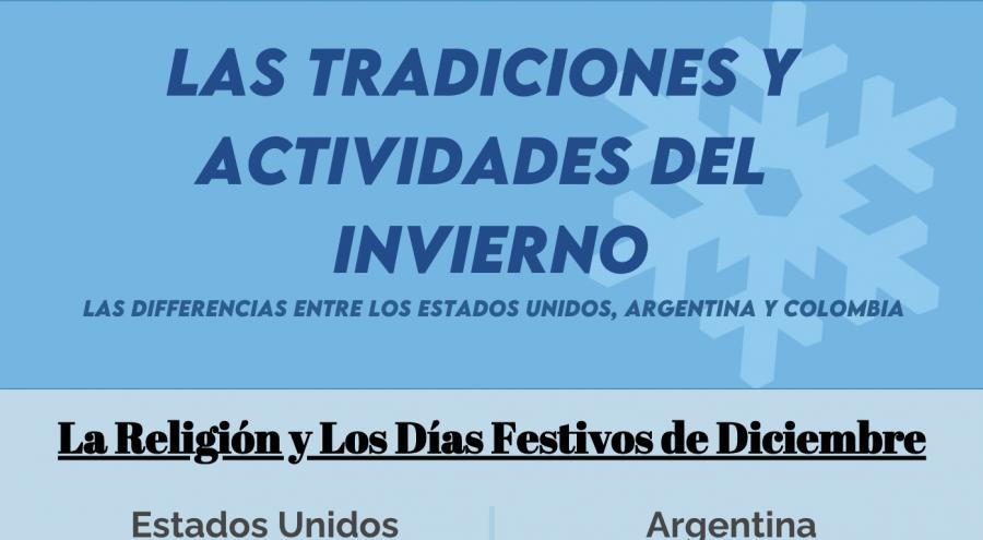 Las tradiciones y actividades del invierno: las diferencias entre los Estados Unidos, Argentina, y Colombia